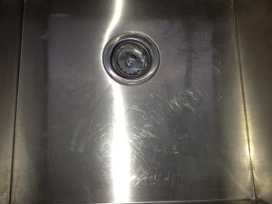 Stainless Commercial Scratched Sink polished