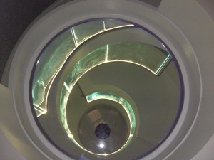 stainless glass stairs