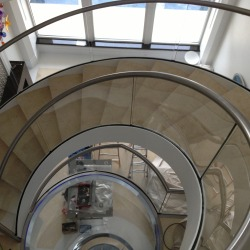 stairs made out of stainless steel scratches repaired