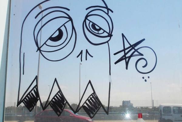 Window Glass Graffiti Removal